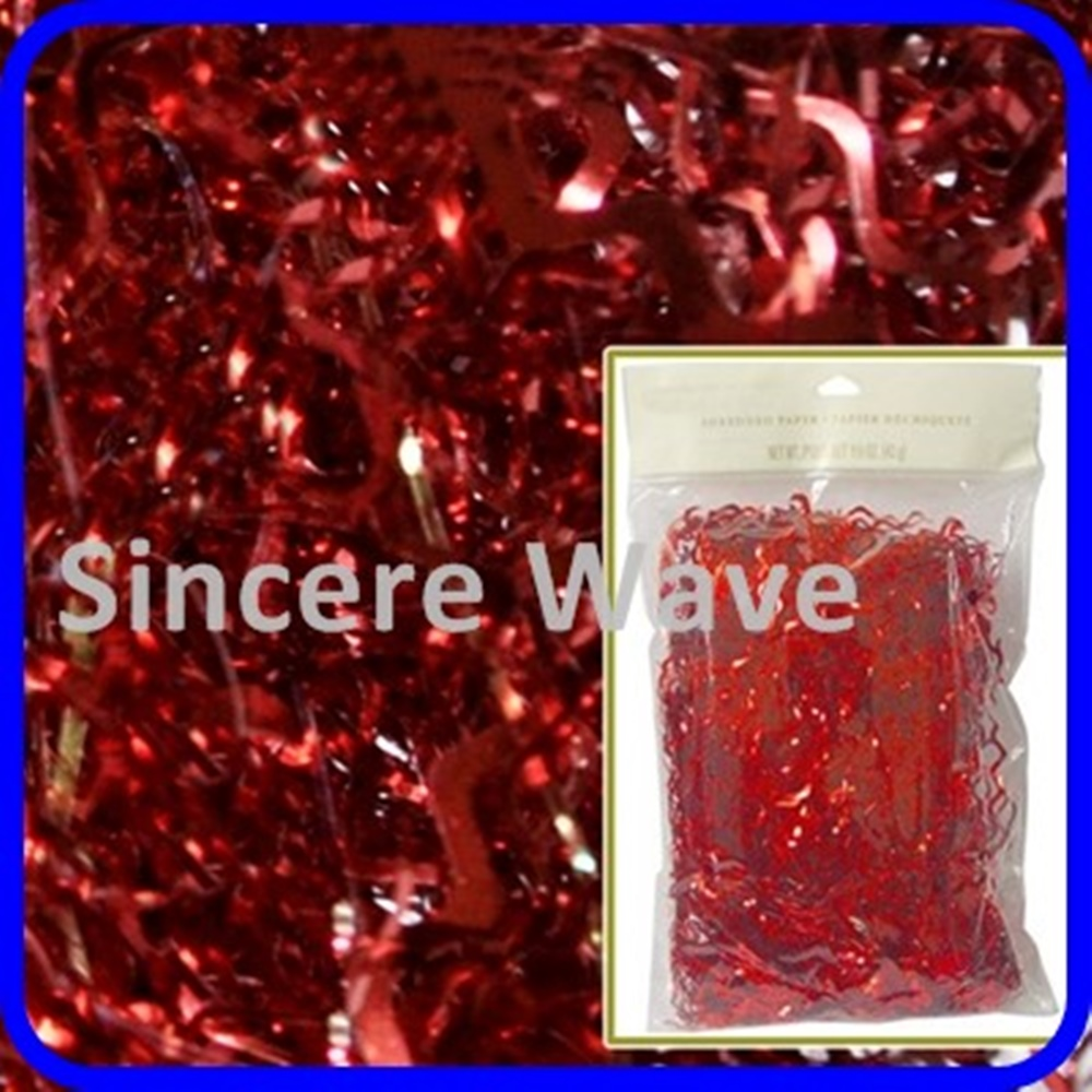14 Grams Red Gold Foil Pvc Metallic Tissue Shred Paper