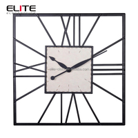 home decor skeleton quartz garden design antique style wall clock/ klok