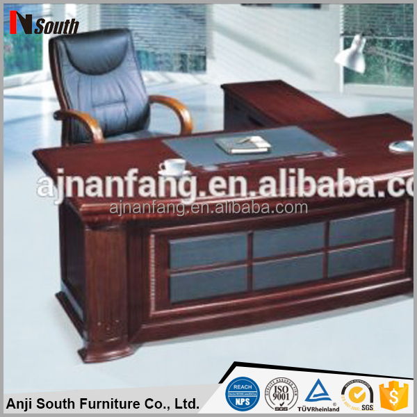 Good quality executive table solid wood boss desk office furniture