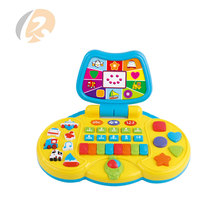 battery operated laptop shape kids educational learning machine toys with music light