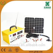2015 Hot Sell 10W home Solar lighting System with FM Radio&MP3 player