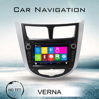 New car multimedia 2 din 7 inch touch screen best car media dvd player gps navigation for VERNA with Detachable