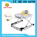 METAL BASE BABY WALKER WITH CUTE TOYS AND MUSICAL PANEL WITH STOPPER 2016 NEW