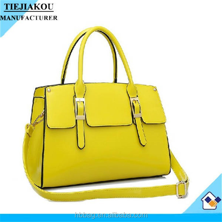 2015New ladies leather horse design handbags made in china