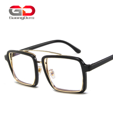 high quality women glasses frames fashion square goggle clear lens eyeglasses metal and <strong>plastic</strong> men <strong>sunglasses</strong> wholesale