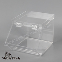 New Style Square Acrylic Candy Cookies Display Bin Box