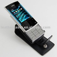 Leather Case for Nokia X3 - Flip Type (Black)