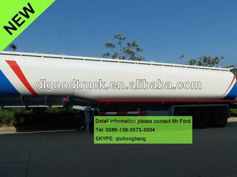 China carbon steel 40000-60000L 3 axles man diesel trailer truck 0086-13635733504