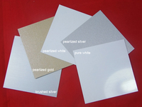 Sublimation blanks aluminum sheets 0.7mm pearlized,pure white sublimation metal sheet20*20CM