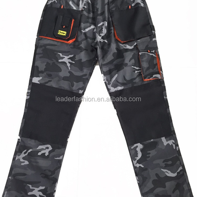 industrial keen pad camouflage durable workwear multi-pocket trousers