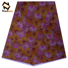 wholesale 100% cotton wax print lace fabric textiles by printing machine for women dress
