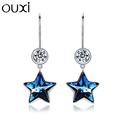 China earring beautiful crystal moon star earring designs for women