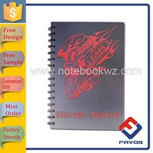 new product a4 plain cover pretty spiral notebook