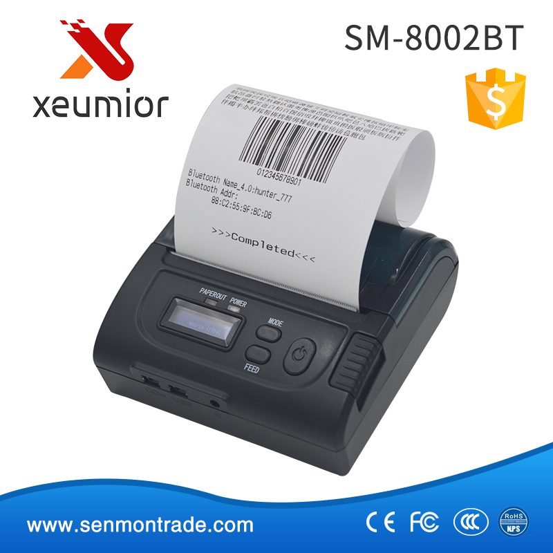 SM-8002BT: 3Inch Mini Wireless Bluetooth Thermal Android Receipt Printer Support Win10