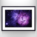Lavender Color Galaxy Space Wall Decal Art,Gallery Wrapped Poster,Ready Hanging On,Modern Mural Photo Art