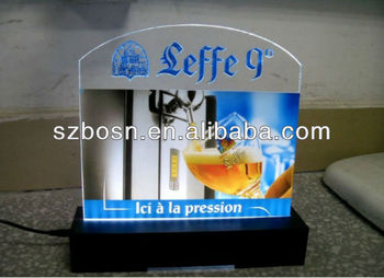 Acrylic LED sign base;LED display;Acrylic sign board with LED;