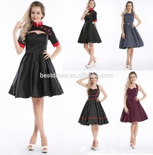 Bestdress cheap pin up Womens christmas prom tea party vintage 50s for ladies rockabilly dress boutique
