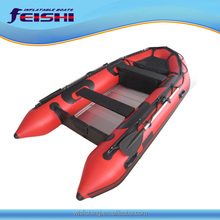 (CE) Made in China FSA-380CM/12'6' Reinforced PVC Inflatable Boat with Aluminum Floor