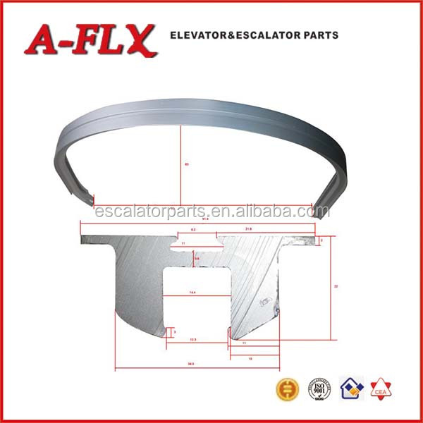 Escalator handrail curve with roller for LG escalator spare parts
