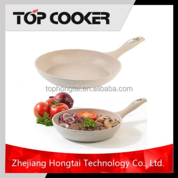 Forged aluminum marble stone coating fry pan