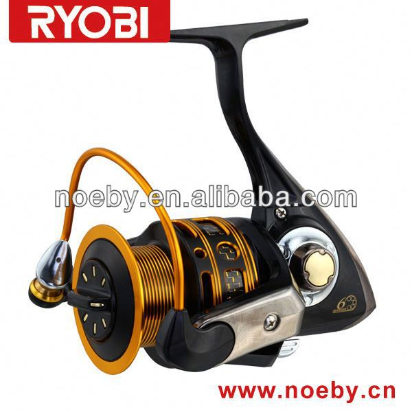 Full mrtal spool with carbon fiber thrck bail arm telescopic fishing rod and reel