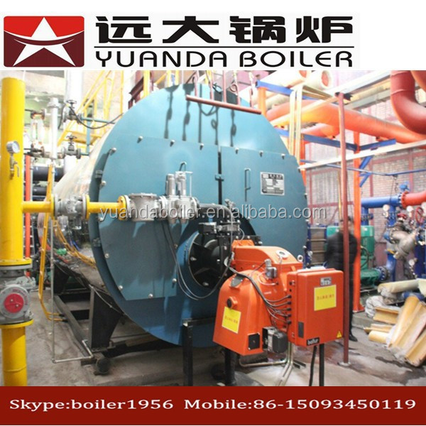 China gas diesel oil fired Water heating boiler system