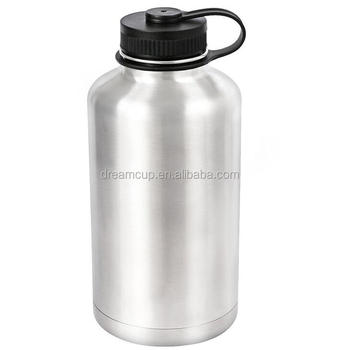 Vacuum flask insulated 64oz 2L stainless steel water beer bottle insulated growler