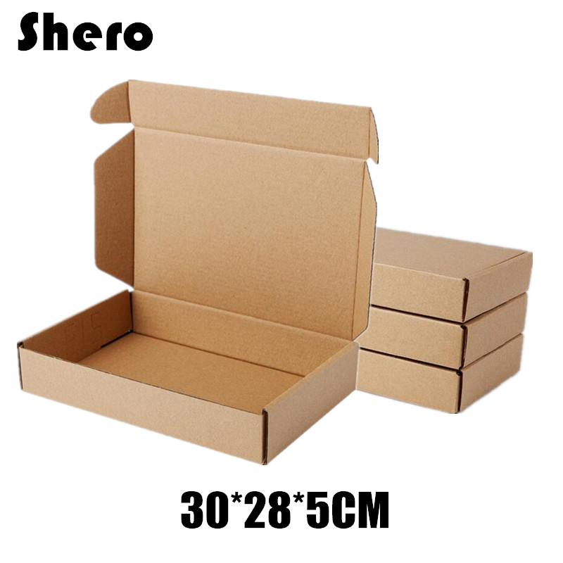 Recycled Thick Kraft Paper Shipping Packing Box for Shirt Coat