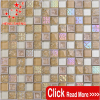 Hot sale mixed color new design glass mosaic ceramic tile for wall decoration