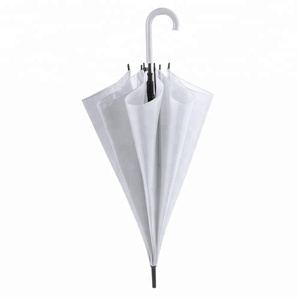 Chinese Cheap Price Hook Handle White Wedding Favors Straight Umbrella