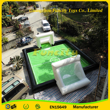 High Quality 0.9 MM PVC Tarpaulin Inflatable Football Play Arena/Water Inflatable Field For Bubble Soccer On Sale