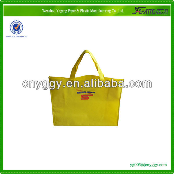 green pp woven shopping bag