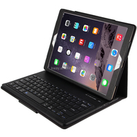 For Apple iPad Pro air mini 1 2 3 4 Magnetically Detachable ABS Bluetooth Keyboard Portfolio Folio PU Leather Case Cover