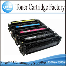 Compatible HP CF380A CF381A CF382A CF383A Color Toner Cartridge