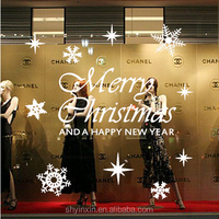 2015 new arrival christmas shop window decals stickers