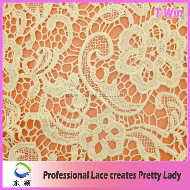 Custom cotton dress making lace fabric cheap price white cotton lace fabric for dress