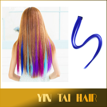 "Clip in on High Temperature Synthetic Hair Extension 20"" Multi-Color Synthetic Straight Hair Pieces Girls hairpin for Party Punk"