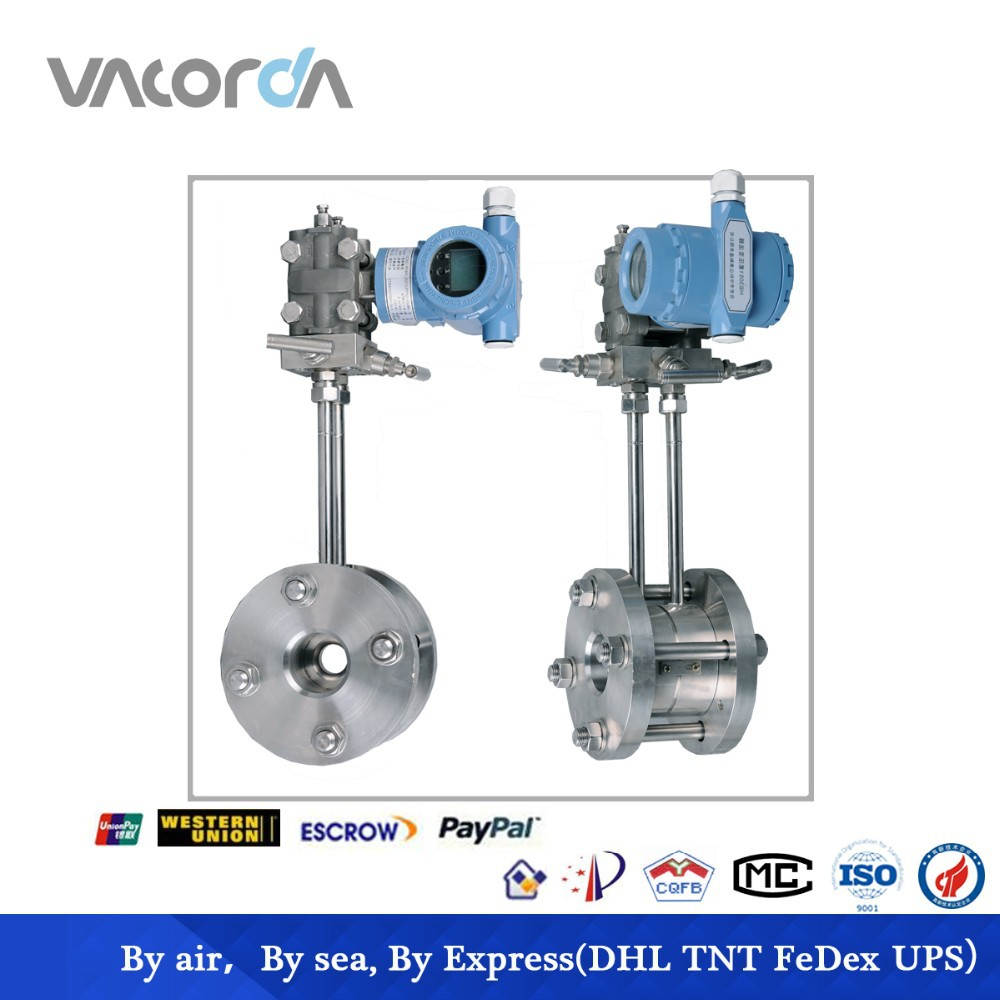 gas flow meter with orifice plate