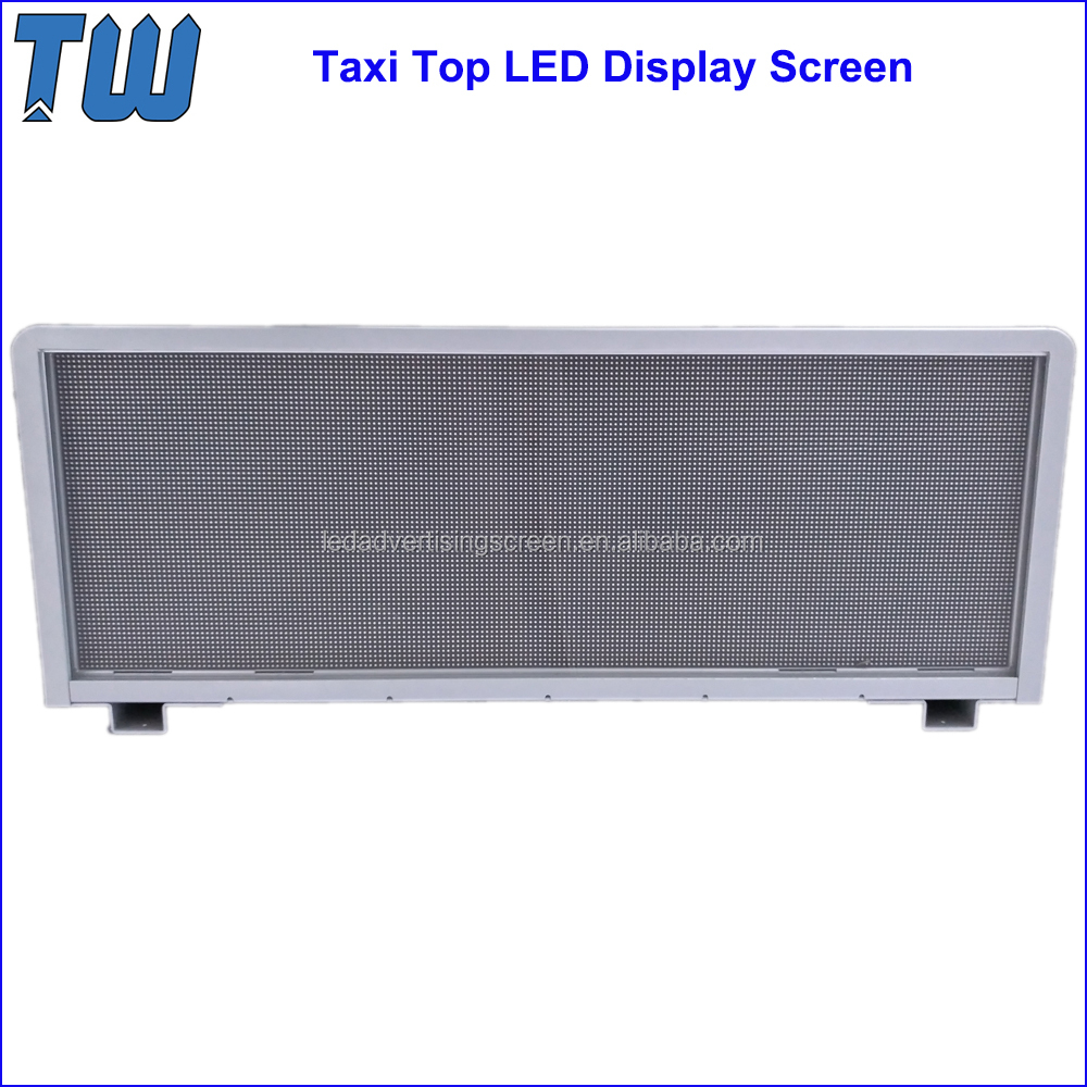 7000nits High Brightness P5 Taxi Car Top LED Advertising Screen 1/8 Scanning High Refresh Rate Display