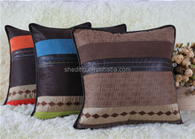 Indoor sofa decorative leather patchwork PU cushion cover