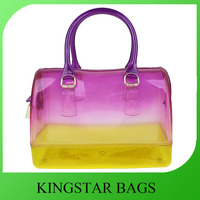 PVC jelly tote bag candy handbag