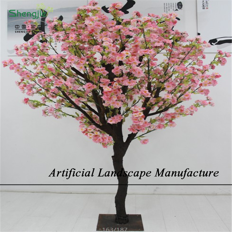 Sjc10 d coratif d 39 int rieur artificielle fleur de cerisier for Arbres artificiels interieur