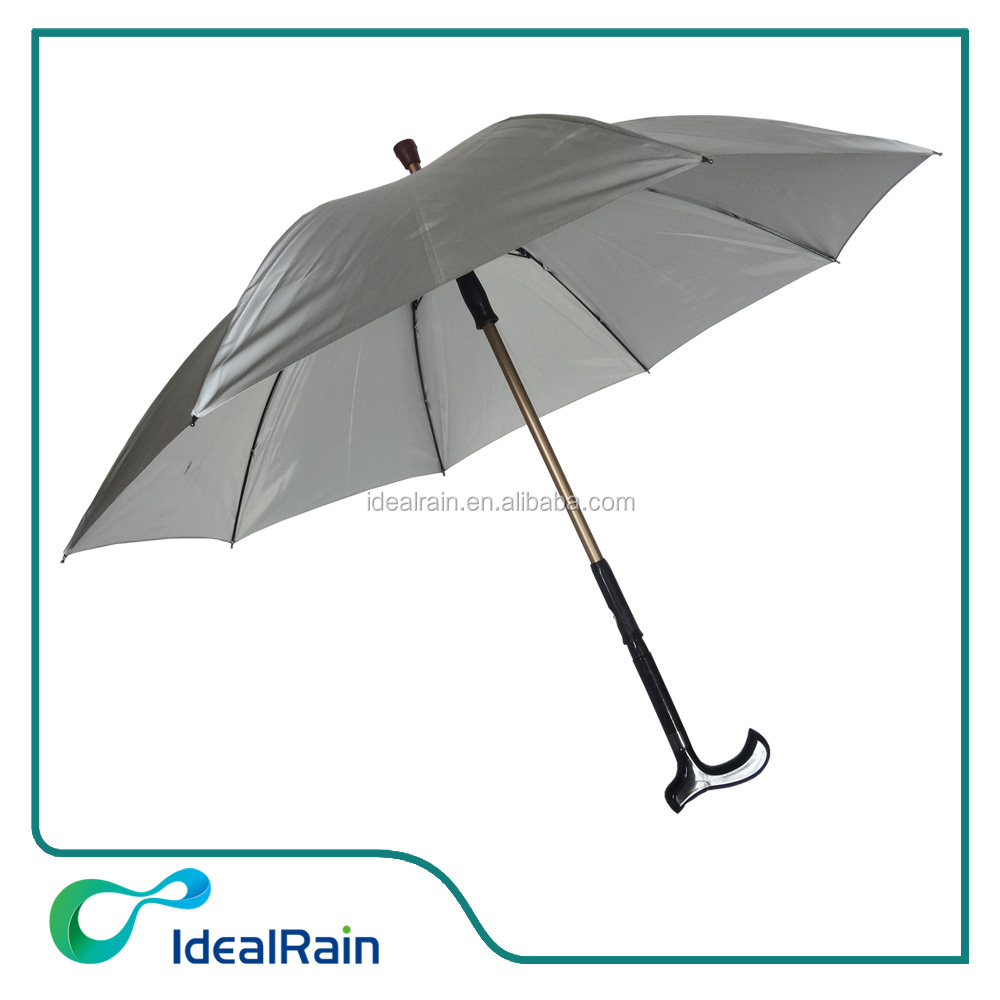 New style safety walking stick reflective umbrella