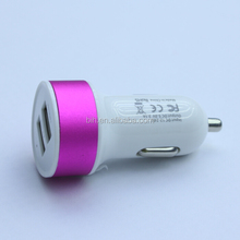 Low price 2 usb ports car mobilephone charger