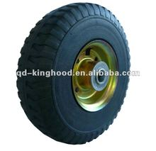 Solid rubber cart tire with rust proof steel rim