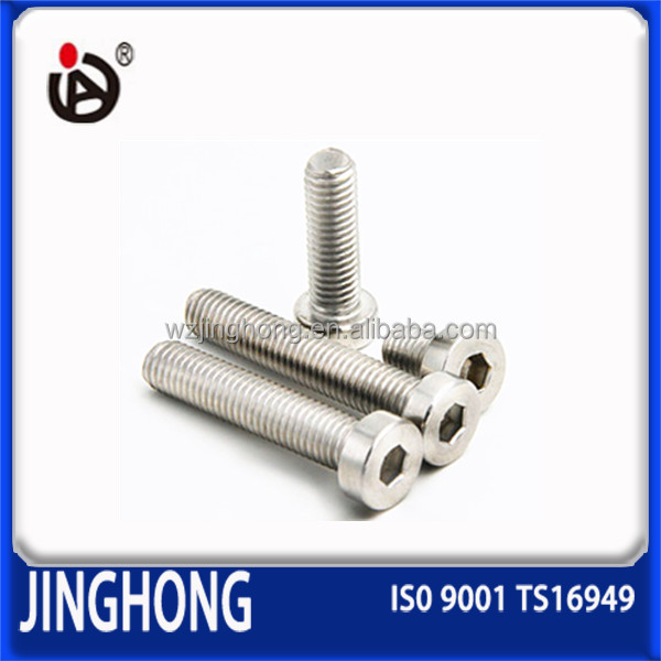 New Hot Selling DIN7984 Hex Socket Thin Head Cap Screw M3 Stainless Steel 304 Screws