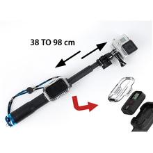 Remote Pole 98cm Handheld Monopod With WIFI Remote Housing and Tripod Mount Adapter for Gopro Hero 4/3+/3/2 Camera