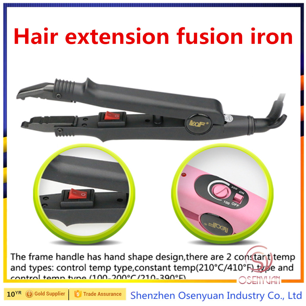 Hair Extensions Fusion Iron 100-240V, Heat Gun Iron Connector with adjustable temperature! hair extension tools