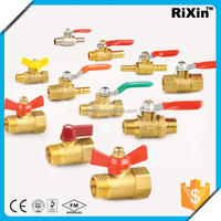"RX 1171 1/4"" brass 2 way gas valve 1/4"" water meter valve 1/4"" ningbo bestway foot valve"