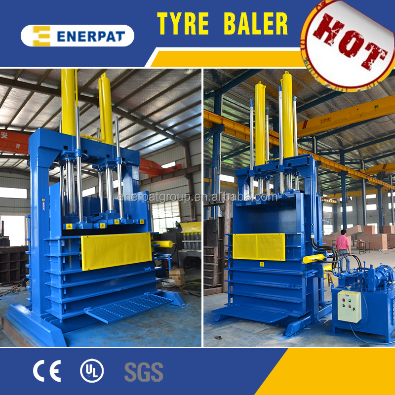 Used tire baler machine for TBR,PCR,OTR,ATR scrap tires with CE